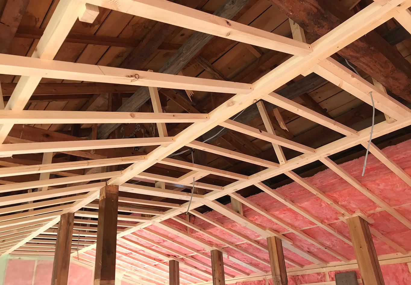 戸建リフォーム・リノベーション 耐震補強や断熱施工薪ストーブ設置工事